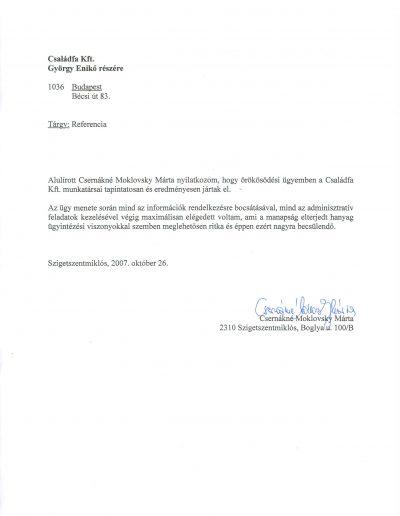Csernákné Mokovsky Márta (HU)