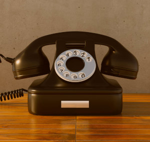 régi telefonkészülék